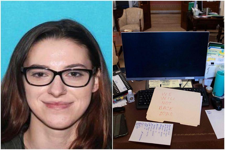 An FBI agent said Riley June Williams was seen near the office of House speaker Nancy Pelosi.