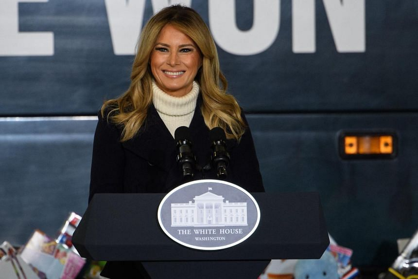 United States First Lady Melania Trump paid tribute to military families, pandemic health workers and those helping victims of opioid abuse.