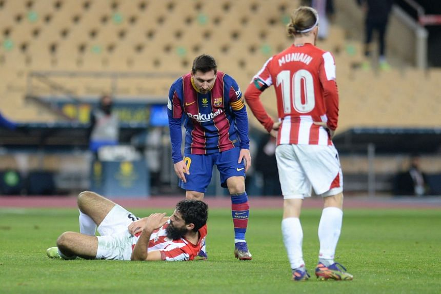 Messi was sent off at the end of extra time for striking Villalibre in the face.