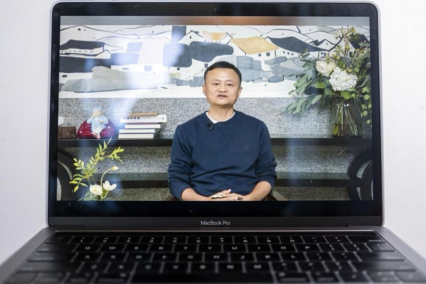 Mr Jack Ma addressed teachers at an online event on Jan 20 after being out of the public view since early November.