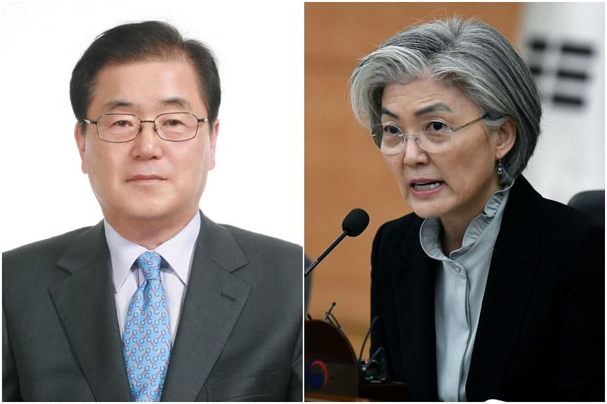 Mr Chung Eui-yong is set to replace Ms Kang Kyung-wha as foreign minister.