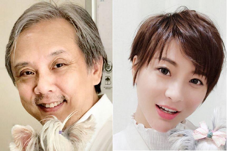 Hong Kong director Gordon Chan (left) and Chinese actress Jelly Xia (right)