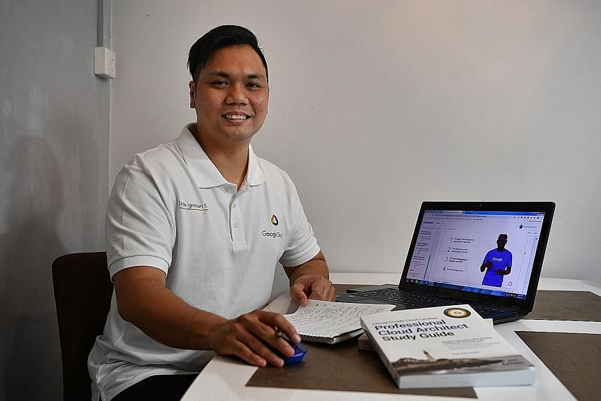 Mr Muhammad Khairunnizam Lukman, who was in corporate sales, is one of 1,650 locals who joined a six-month training programme overseen by technology giant Google as part of its Skills Ignition SG initiative.