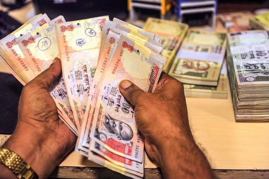 The rupee is under pressure to rise on heavy foreign inflows.