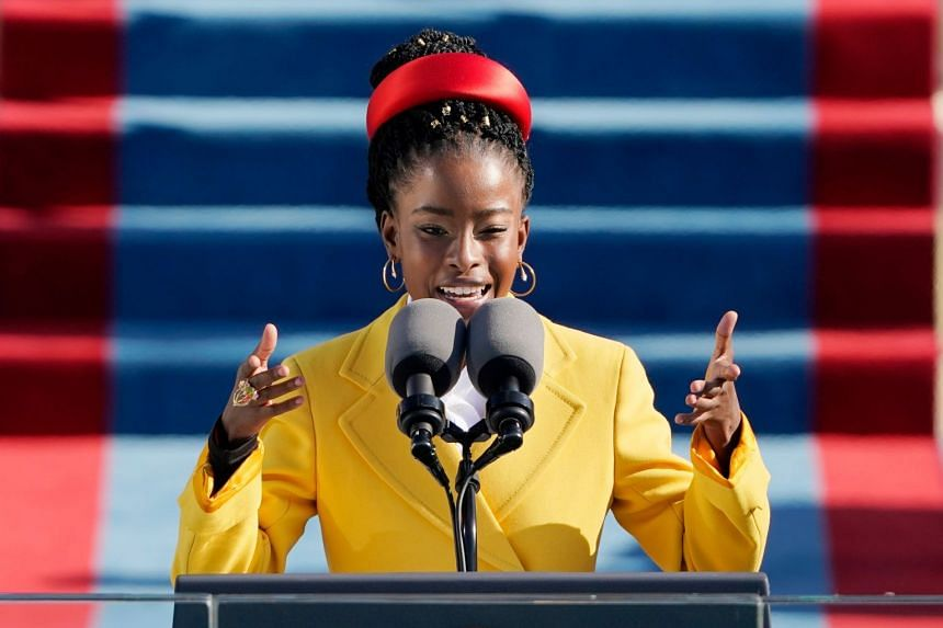 Amanda Gorman, reciting her poem at President Joe Biden's inauguration on Wednesday, is the youngest inaugural poet in the United States.