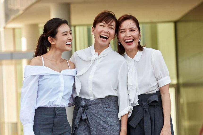 (From left) Hong Ling, Kym Ng and Zoe Tay in My Guardian Angels.