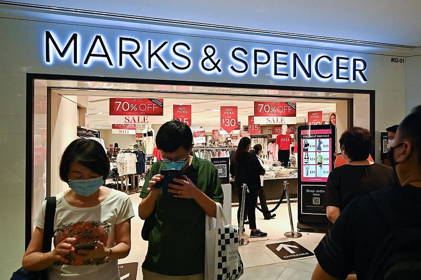A Marks & Spencer sale last year at Raffles City Shopping Centre. The retailer had announced its exit there last month.