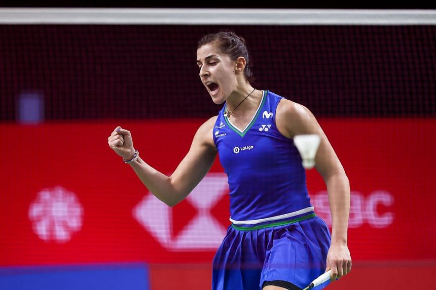 Spain's Carolina Marin, ranked sixth in the world, is aiming for back-to-back titles in this week's tournament.