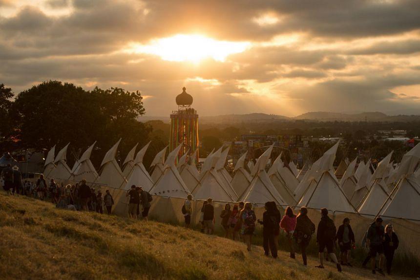 Glastonbury is Britain's largest pop event, held each June at the Eavises' farm in Pilton, southwest England.