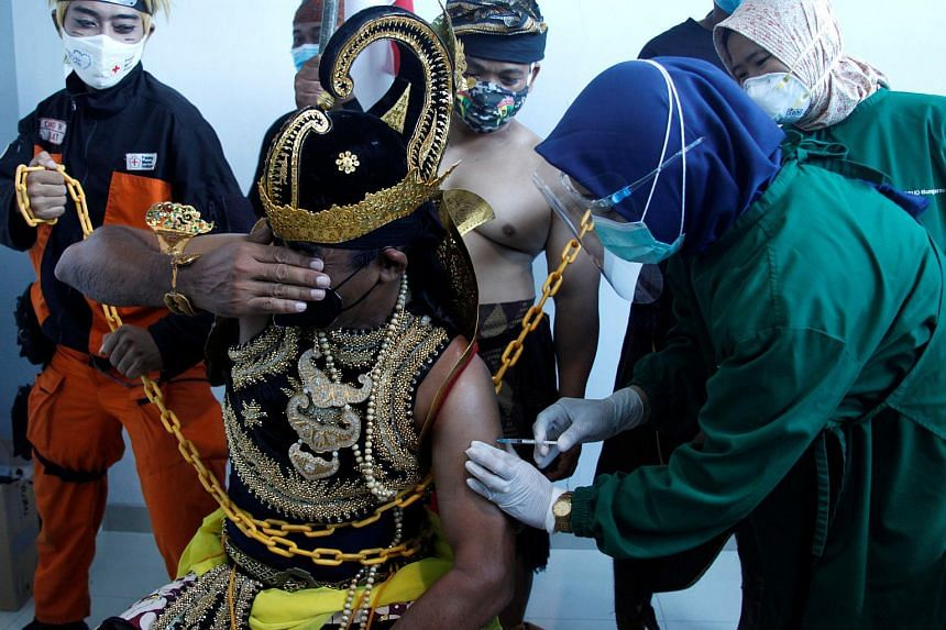The Indonesian government has set an ambitious target of getting 181 million people vaccinated by March 2022.