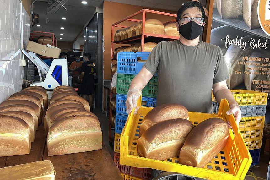 Mr Jimmy Mah, owner of Jie Bakery (Tai Seng) in Upper Paya Lebar.