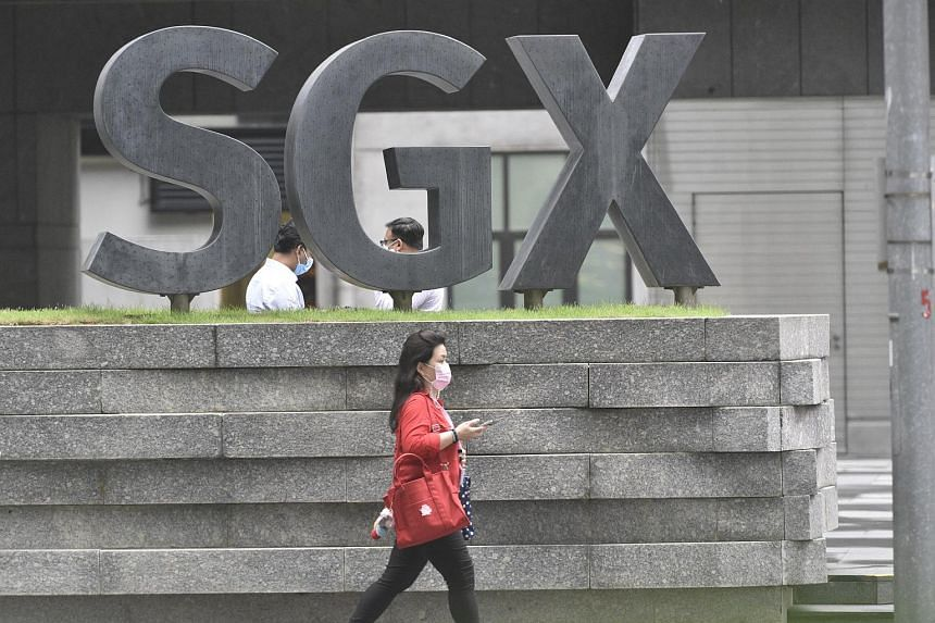 Singapore shares declined after a few days of registering gains.
