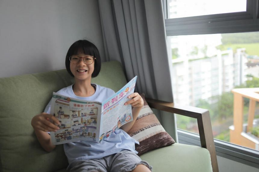 Ariel, who is now in Secondary 1, started taking Chinese classes at the Dyslexia Association of Singapore (DAS) in Primary 5.