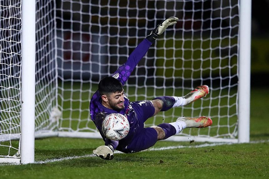 Newport County custodian Tom King (saving from Brighton's Neal Maupay in their FA Cup third round penalty shoot-out on Jan 10) set a new standard for the longest goal ever scored with his 96.01-metre kick on Tuesday.