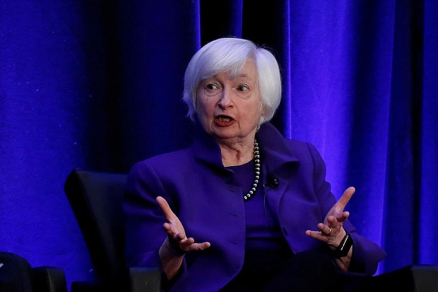 US Treasury Secretary-designate Janet Yellen at an event in Atlanta, Georgia, in 2019. Dr Yellen, who awaits Senate approval for her post, submitted written responses to Senate Finance Committee members' follow-up questions on topics spanning climate