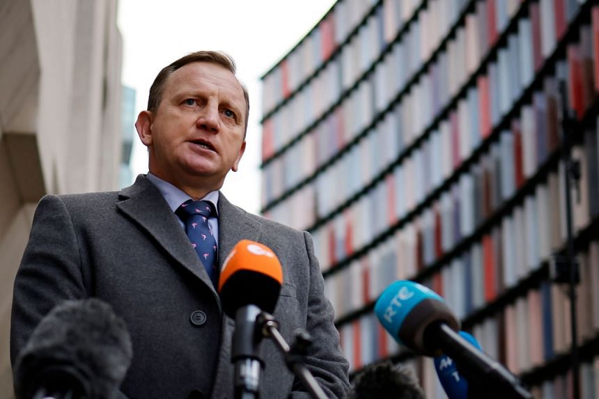 Detective Chief Inspector Daniel Stoten, of Essex Police, delivers a statement outside the Old Bailey in London on Jan 23, 2021.