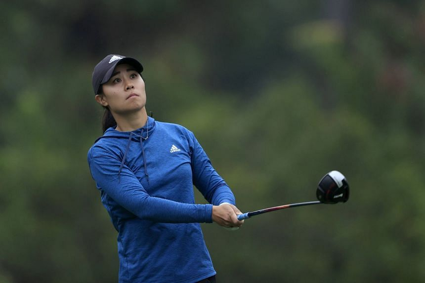 Kang plays a shot on the seventh hole during the third round.