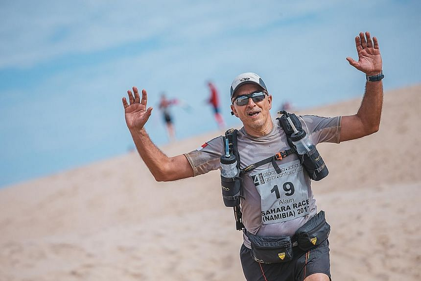 Ultra-marathoner Alain Esseiva (above) has taken on races in Antarctica, Mongolia and Kazakhstan.