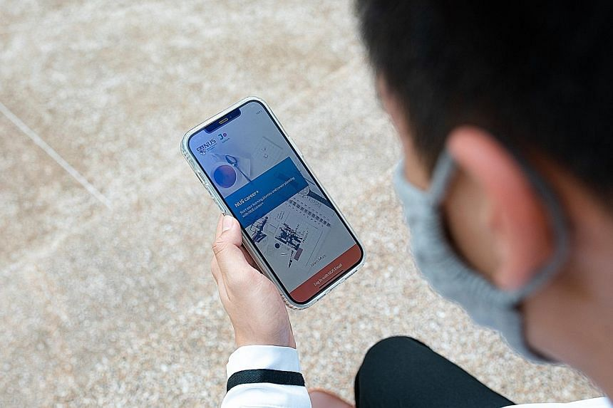 The NUS career+ app helps National University of Singapore students keep track of the skills they have acquired as well as what job sectors are looking for.