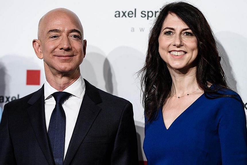 The 10 richest men, including Amazon founder Jeff Bezos (above) and Tesla founder Elon Musk, saw their net worth increase by US$540 billion between March and December last year.