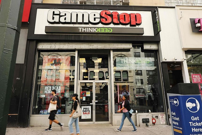 Shares of US video game retailer GameStop have risen about 250 per cent already this year. They more than doubled on Monday before paring back. Traders said short-sellers were quickly buying back in to cover potential losses while retail investors we