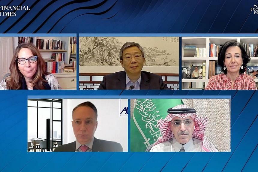 Yesterday's virtual discussion on strengthening the financial and monetary system at the World Economic Forum Davos Agenda 2021 was moderated by Financial Times editor Roula Khalaf.