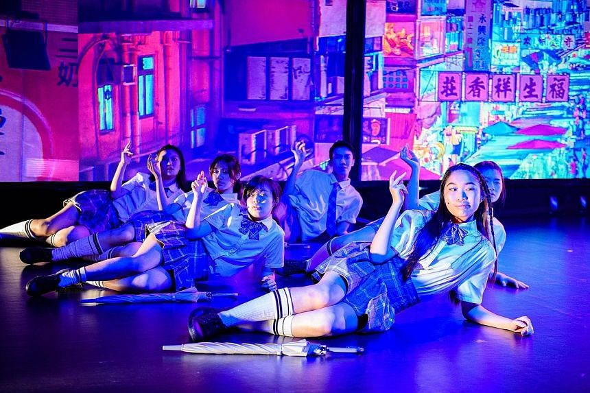 The Nanyang Academy of Fine Arts student cast of Havoc Girls & Kamikaze Boys deliver a third of the production in Cantonese.