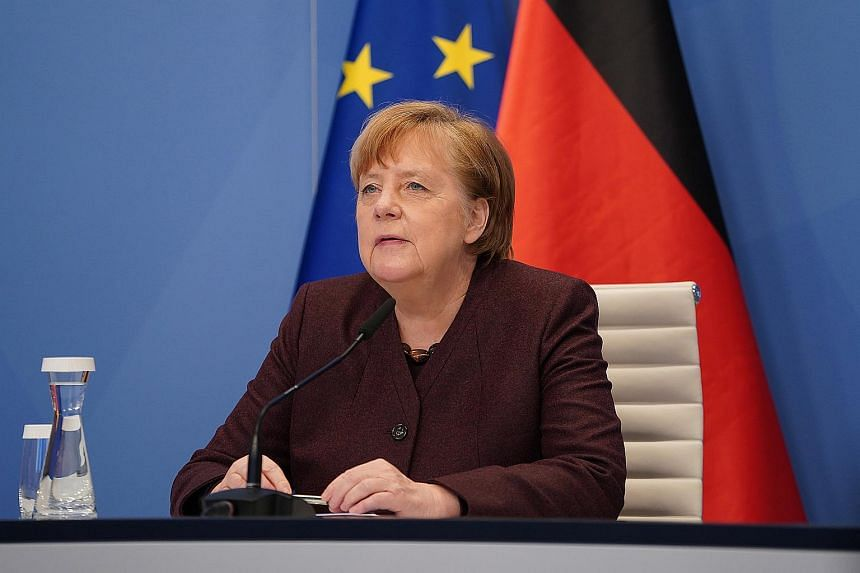 German Chancellor Angela Merkel hoped to intensify work on minimum taxation of digital companies.