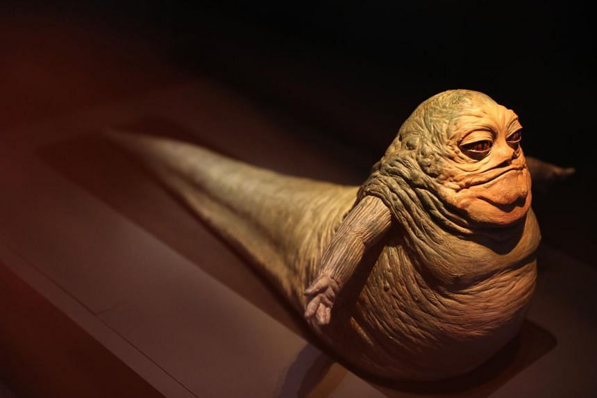 This model helped to visualise a younger and slimmer version of Jabba the Hutt who would be needed to preside over the Boonta Eve Podrace.