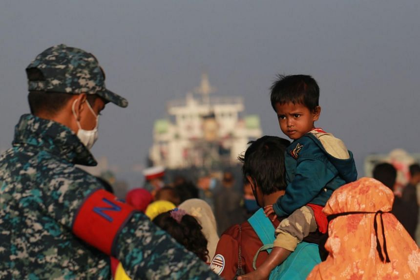 Bangladesh has relocated about 3,500 of the refugees from neighbouring Myanmar to Bhasan Char island since December.