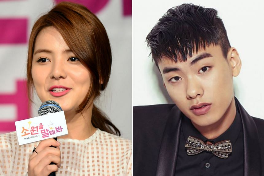 Up-and-coming South Korean actress Song Yoo-jung (left), 26, was found dead in Seoul last Saturday, while rapper Iron (right), 29, was pronounced dead in a hospital on Monday after he was found lying unconscious outside an apartment in Seoul.
