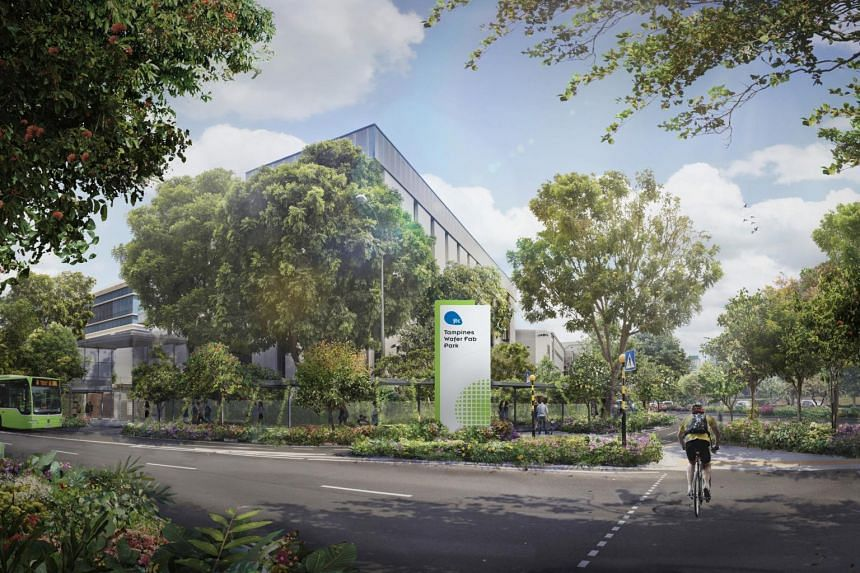 New covered walkways and cycling paths for the Pasir Ris and Tampines wafer fabrication parks will be ready by 2023.