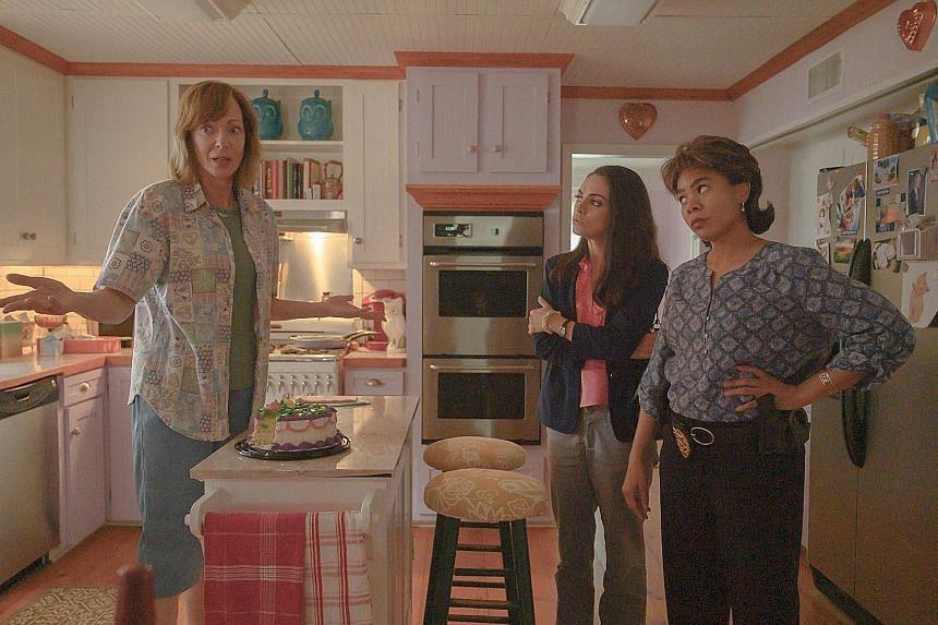 (From left) Allison Janney, Mila Kunis, Regina Hall in Breaking News In Yuba County.