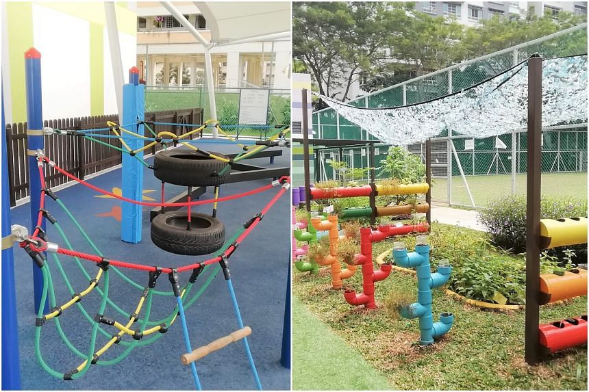 Children get to learn indoors and outdoors as centres use space flexibly and creatively.