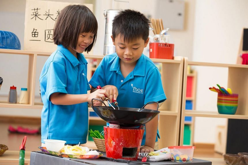 First set up in 2014, MOE kindergartens are meant to provide affordable pre-school education for children aged five and six.