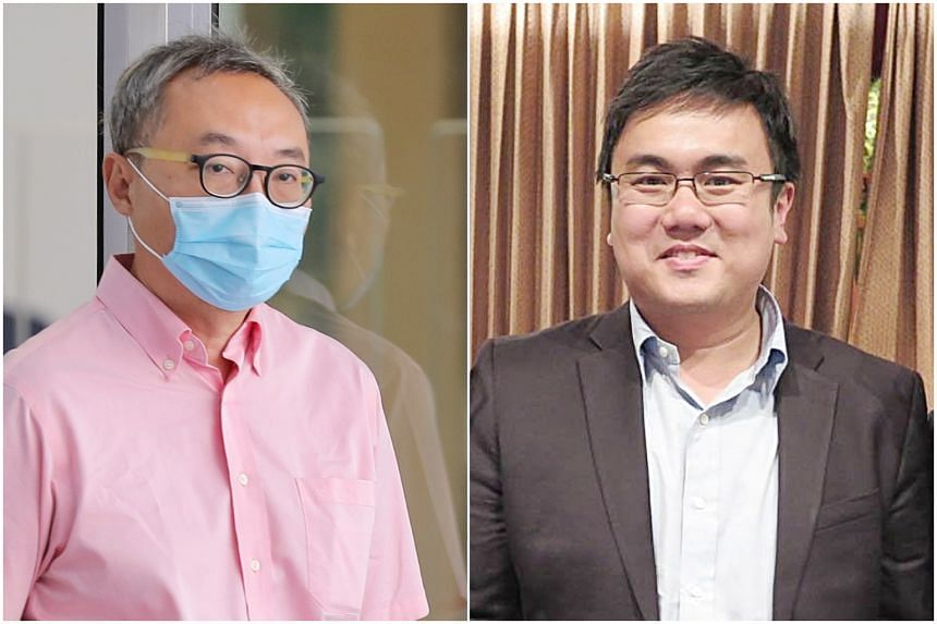 Tan Kok Kiong's (left) case has been adjourned to Mar 4 while Thomas Teh Kok Hiong's case will be mentioned again on Feb 25.