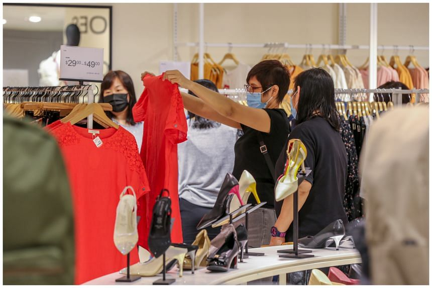 Shoppers at the soft launch of One Assembly, a new concept store by BHG Singapore and Raffles City Singapore, on Jan 29, 2021.