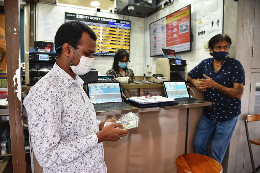 There are about 270 money changers in Singapore.