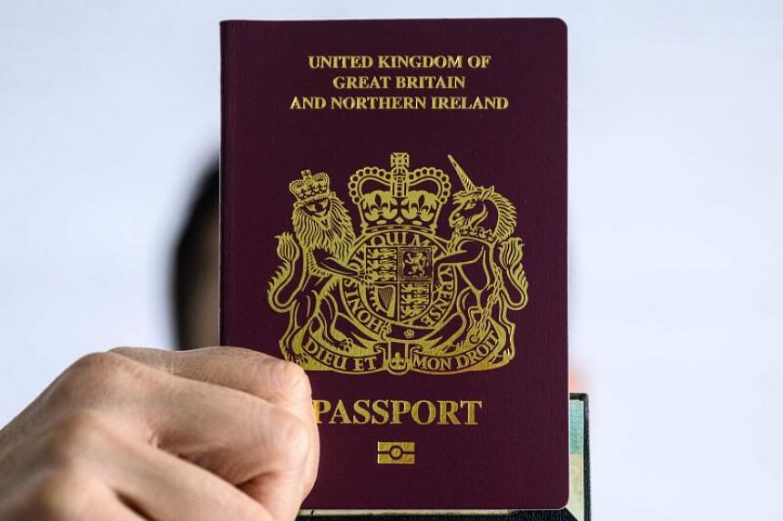 A person with a British National (Overseas) passport in Hong Kong on Jan 29, 2021.
