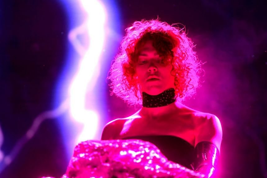 A 2019 photo shows Sophie performing at the Coachella Valley Music and Arts Festival.