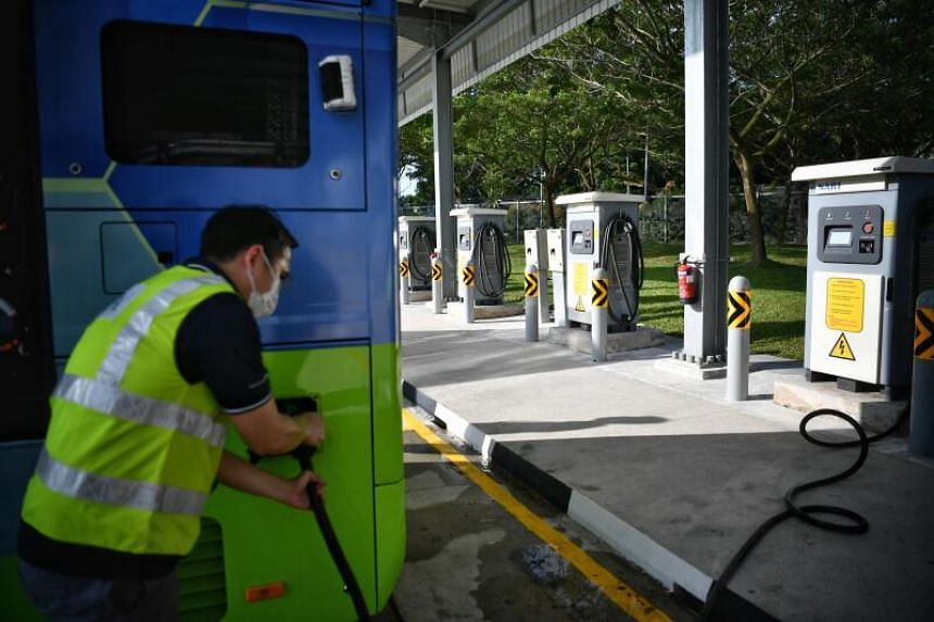 LTA said it is on track to have all 5,800 public buses run fully on electricity or be at least hybrid-electric by 2040.