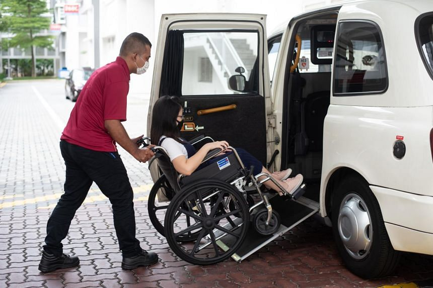 About 10 wheelchair-accessible vehicles will be made available for hire under a trial for the new GrabAssist Plus service.