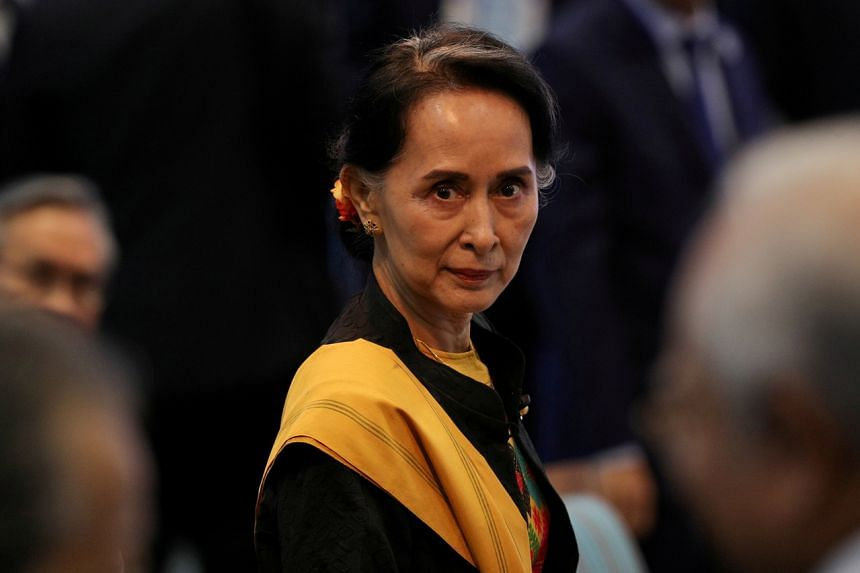 Myanmar's State Counsellor Aung San Suu Kyi and other leaders were detained in a raid on the morning of Feb 1, 2021.