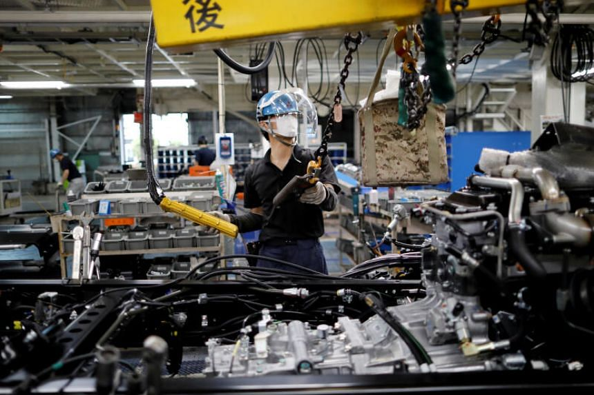 Japan saw factory activity slip back into contraction as a new state of emergency hit operating conditions.
