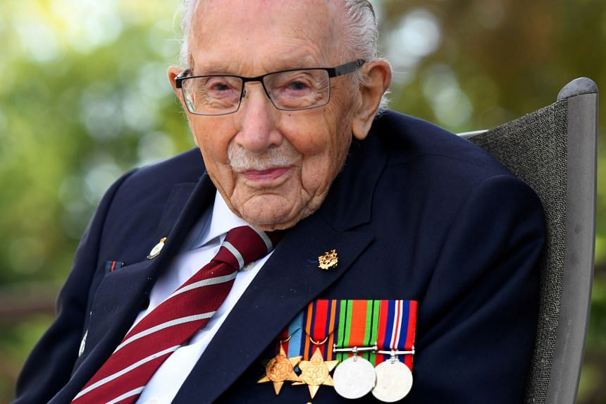 WWII veteran Captain Tom Moore broke two Guinness world records and was knighted by Queen Elizabeth last year.