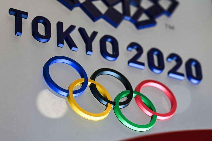 The Tokyo 2020 Olympics Games logo is seen in Tokyo on January 28, 2021.