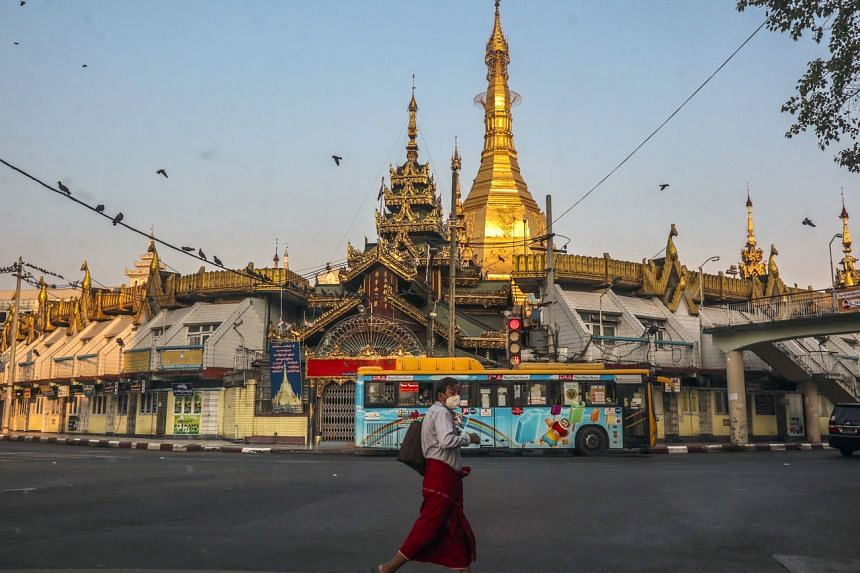 There were few signs of extra security on the streets of Yangon, Myanmar's biggest city and commercial capital.