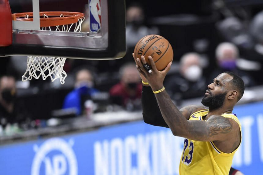 LeBron James had been involved in a row with a male spectator.