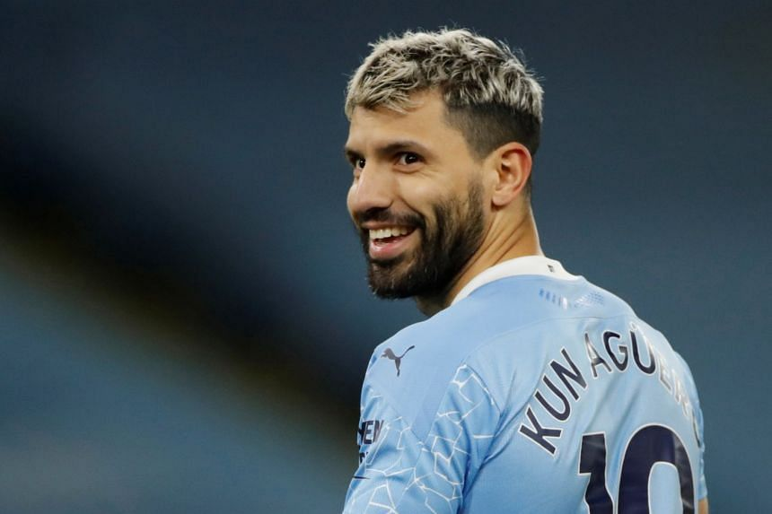 Aguero (above) has not yet restarted full training as he slowly works his way back to fitness.