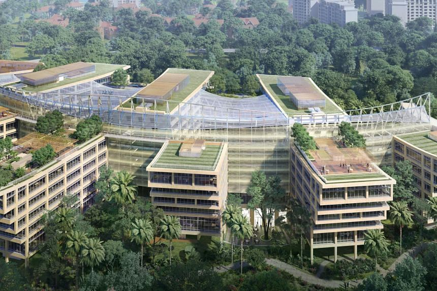 Surbana Jurong also aims to reduce net emissions at its headquarters at SJ Campus in Jurong Innovation District.